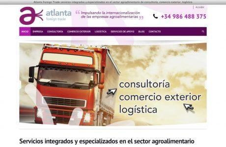 Web corporativa de una empresa de servicios de apoyo a la internacionalización del sector agroalimentario. Sitio web realizado con WordPress.