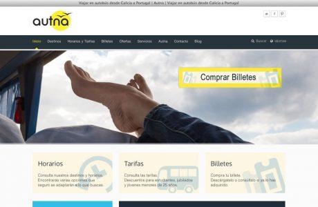 Web corporativa de empresa de transporte de viajeros por carretera.