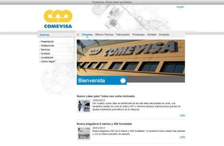 Web corporativa de Construcciones Metálicas de Vigo. Desarrollo realizado en ASP y SQL Server.