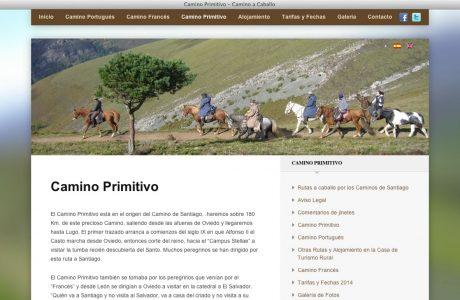 Web corporativa de rutas ecuestres del Camino de Santiago. Sitio web realizado con WordPress.