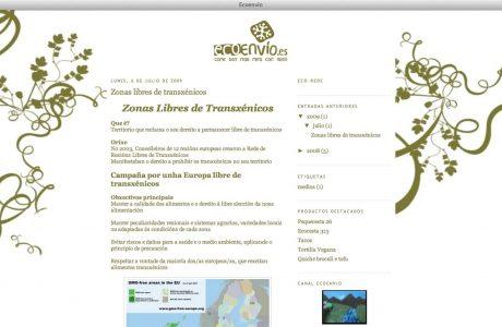 Tienda online de ecoenvio. Web desarrollada a medida en ASP.