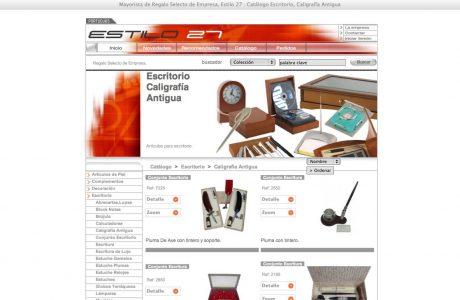 Catálogo online de Estilo 27. Web desarrollada a medida en ASP.