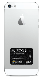 Sticker de Wizzo con chip NFC para pagos con el móvil