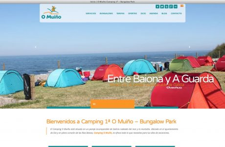 Web de reservas de camping O Muiño situado en el ayuntamiento de Oia y en pleno corazón de las Rias Baixas. Implementación del motor de reservas de Ctoutvert sobre WordPress.