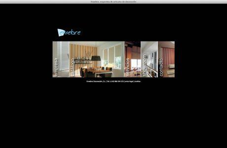 Web corporativa y catálogo de la empresa de diseño, fabricación y distribución de accesorios relacionados con la cortina y la decoración. Programación en ASP.