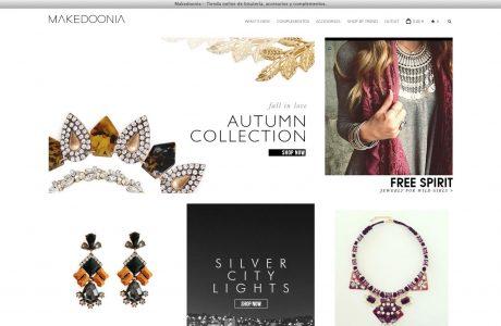 Tienda online de artículos de bisutería, complementos y accesorios de moda Sitio web realizado con WordPress y WooCommerce.