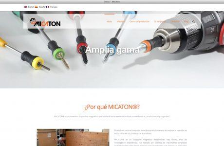 Web corportaiva de MICATON®, un novedoso dispositivo magnético que facilitará las tareas de atornillado aumentando su productividad y seguridad.