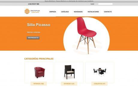 Web corporativa de Reyma, empresa dedica a la distribución de mobiliario para hostelería.