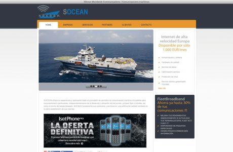 Web corporativa de socean, empresa de soluciones integradas de comunicaciones para embarcaciones.