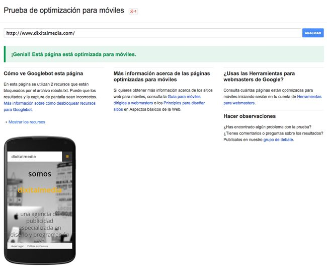 prueba de optimizacion para moviles