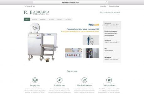 Web corporativa de R. Barreiro Embalajes, una empresa presente en el sector del envase y embalaje, en el mercado nacional español e internacional. Sitio web realizado con WordPress.