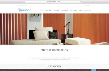 Web corporativa y catálogo de la empresa de diseño, fabricación y distribución de accesorios relacionados con la cortina y la decoración. Sitio web realizado con WordPress.