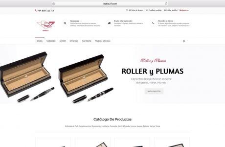 Catálogo online de Estilo 27. Artículos selectos de regalo de Empresa. Sitio web realizado con WordPress.