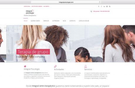 Web corporativa de Integral Psicología, centro terapéutico de atención psicológica y logopédica. Sitio web realizado con WordPress.