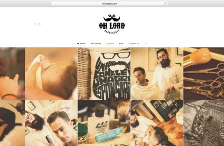 Web corporativa de Oh Lord Barbershop. Enoc, un violinista transformado en barbero.