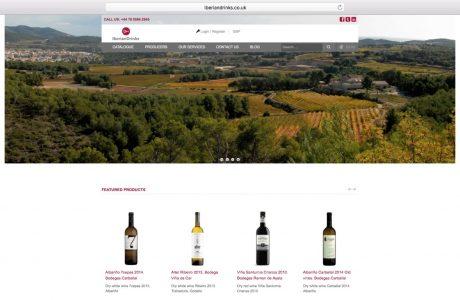Catálogo online de Iberiandrinks, un proveedor independiente español y portugués de vino en el Reino Unido. Sitio web realizado con WordPress y WooCommerce.