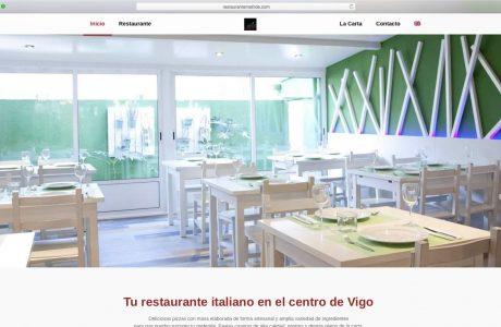 Web corporativa de Restaurante Matilde. Restaurante de comida italiana en el centro de Vigo. Sitio web realizado con WordPress.