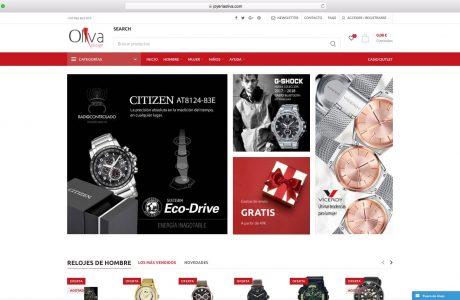 Tienda online de relojes y complementos para mujer y hombre. Sitio web realizado con WordPress.