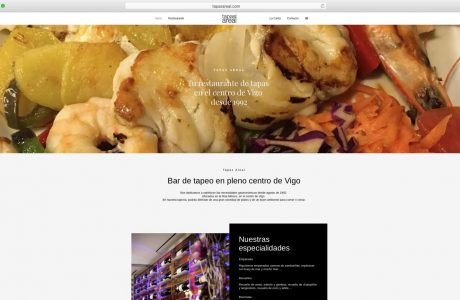 Web corporativa de Tapas Areal. Bar de tapeo en pleno centro de Vigo. Sitio web realizado con WordPress.