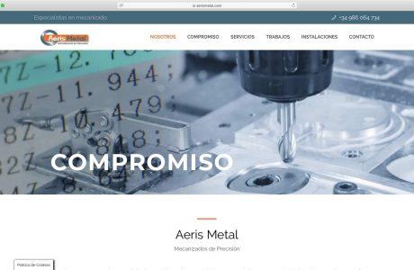Aeris Metal es una empresa joven y dinámica, nacida en Cangas del Morrazo en el año 2012 con el objetivo de convertirse en referente dentro del sector del mecanizado y la fabricación industrial. Sitio web realizado con WordPress.