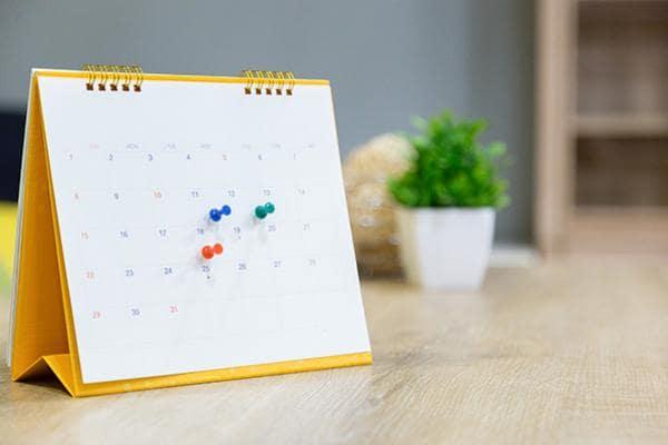 Calendario planning